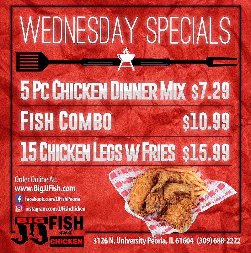 Wed Food Specials: Serving The Best Fish & Chicken